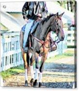 Keeneland Pony Boy Acrylic Print by Tom Schmidt