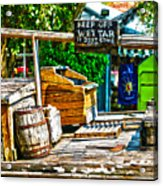 Keep Off Wet Tar It Don't Come Off Key West Florida Acrylic Print