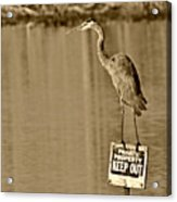 Keep Out Acrylic Print