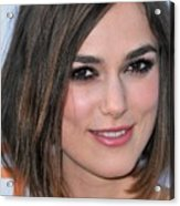 Keira Knightley At Arrivals For A Acrylic Print by Everett