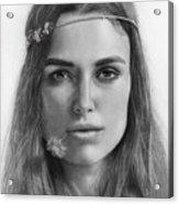 Keira Knightley Acrylic Print