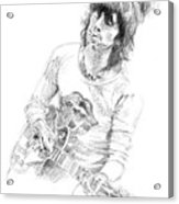 Keith Richards Exile Acrylic Print by David Lloyd Glover