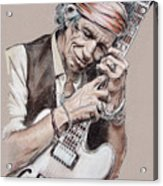 Keith Richards Acrylic Print