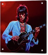 Keith Richards The Riffmaster Acrylic Print
