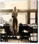Kelly In The Window Acrylic Print