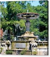 Kenan Memorial Fountain Acrylic Print