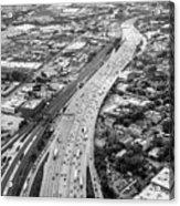 Kennedy Expressway And Chicago Skyline Acrylic Print