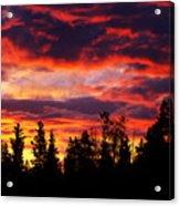 Kenosha Pass Sunrise Acrylic Print