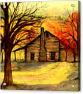 Kentucky Cabin Acrylic Print