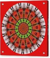 Kentucky Derby Glasses Kaleidoscope 3 Acrylic Print