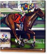 Kentucky Derby Winner Street Sense Acrylic Print by Dave Olsen