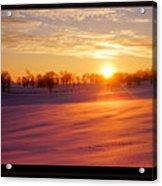 Kentucky Winter Sunrise Acrylic Print