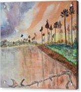 Kenya Sunset Acrylic Print