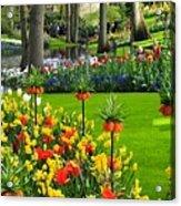 Keukenhof Ornamental Garden. Acrylic Print