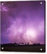 Kewl Nebraska Cg Lightning And Krawlers 018 Acrylic Print
