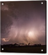 Kewl Nebraska Cg Lightning And Krawlers 020 Acrylic Print