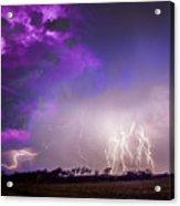 Kewl Nebraska Cg Lightning And Krawlers 038 Acrylic Print