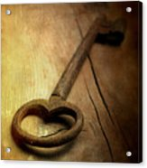 Key Acrylic Print by Bernard Jaubert