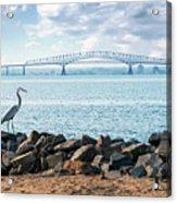 Key Bridge From Ft Smallwood Pk Acrylic Print