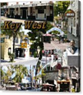 Key West Collage Acrylic Print