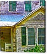 Key West Florida Clapboard Home Acrylic Print