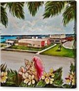 Key West High School From The 60's Era Acrylic Print
