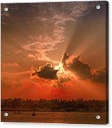 Key West Sunset Panoramic Acrylic Print