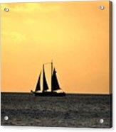 Key West Sunset Sail Acrylic Print