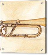 Keyed Trumpet Acrylic Print