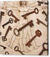 Keys On Artwoork Acrylic Print