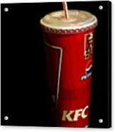 Kfc Cup Acrylic Print by Helena M Langley