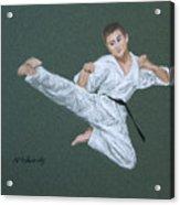 Kick Fighter Acrylic Print