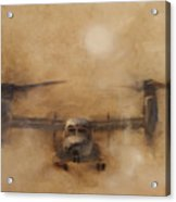 Kicking Sand Acrylic Print by Stephen Roberson
