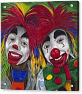 Kid Clowns Acrylic Print by Patty Vicknair