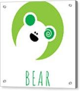 Kids Bear Poster Acrylic Print