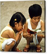Kids In China 1986 Acrylic Print
