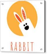 Kids Rabbit Poster Acrylic Print