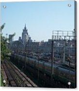 Moscow Kievskaya Train Yard Acrylic Print