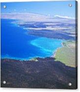 Kiholo Bay, Aerial View Acrylic Print