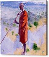Kikuyu In A Red Cloak Acrylic Print