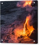 Kilauea Volcano Lava Flow Sea Entry 6 - The Big Island Hawaii Acrylic Print
