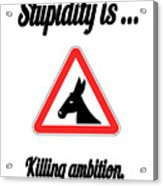 Killing Bigstock Donkey 171252860 Acrylic Print