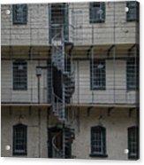 Kilmainham Gaol Spiral Stairs Acrylic Print