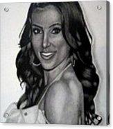 Kim Kardashian Drawing Acrylic Print