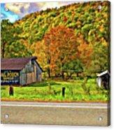 Kindred Barns Painted Acrylic Print