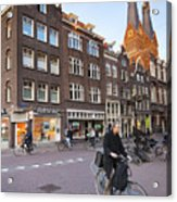 king a Walk in the Streets of Amsterdam Acrylic Print
