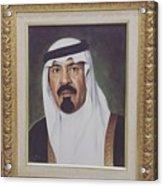 King Abdullah Acrylic Print