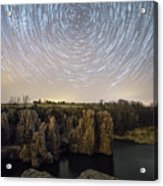 King And Queen Star Trails Acrylic Print