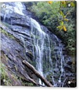 King Creek Falls Oconee County Sc Acrylic Print by Lane Owen