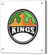 King Crown Kings Circle Retro Acrylic Print